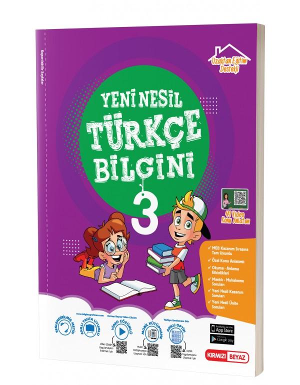 Kırmızı Beyaz 3.Sınıf Yeni Nesil Türkçe Bil...
