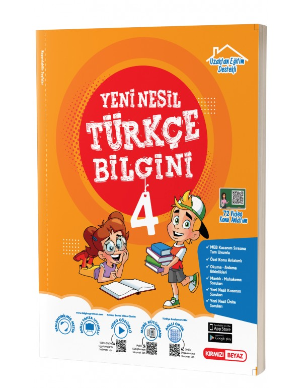 Kırmızı Beyaz 4.Sınıf Yeni Nesil Türkçe Bil...