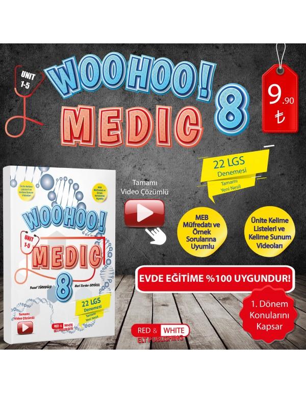 Kırmızı Beyaz WooHoo! Medic LGS Deneme Kitabı