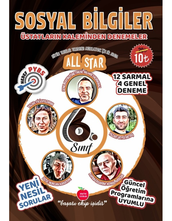 Newton Yayınları 6.Sınıf All Star Sosyal Bilgi...