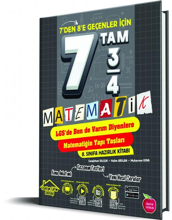 Newton Yayınları 7 tam 3/4 Matematik Kitabı